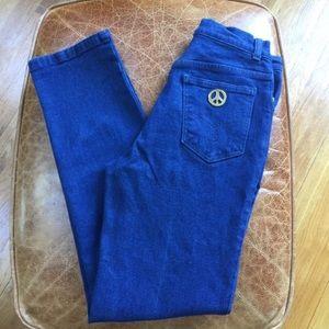 Authentic MOSCHINO dark wash hippie bohemian jeans
